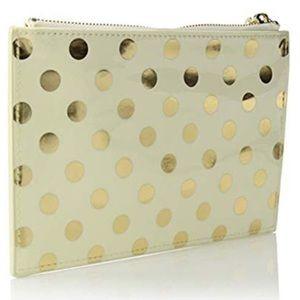 Kate Spade gold dots pencil pouch 6 piece set
